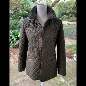 Ralph Lauren Quilted Equestrian Crest Jacket